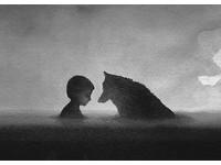 純真而危險 印尼黑白畫家「孩童與猛獸」展現微妙氛圍