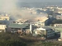 頭份紙廠跨年大火燒7天 煙灰瀰漫街道像龐貝城