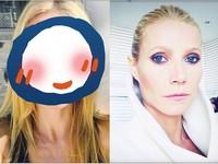 葛妮絲派特洛揭「妝前&妝後」對比照 點名好友來PK