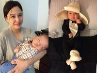 黃小柔好會養! 兒子出生不到3月衝破8公斤「抱不動」