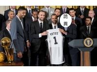 NBA/接見冠軍馬刺 歐巴馬酸對方又自婊