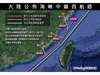 大陸強劃海峽中線新航線 民進黨砲轟:對台灣太不尊重