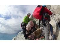 清水斷崖清出6百kg垃圾 正妹詹喬渝嘆:快變沉積岩了