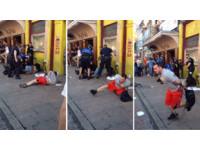 「上銬美男」趁警察分神開溜 跌倒2次不氣餒落跑成功