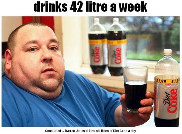 健怡可樂,減肥,腰圍,胰島素,色素,甜味劑,新陳代謝