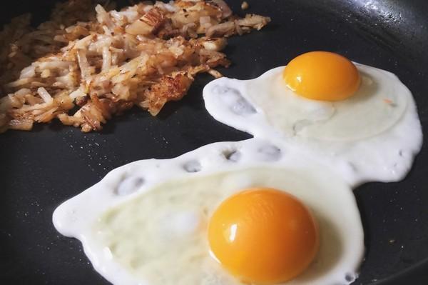 煎蛋,水煮蛋,蛋黃,雞蛋。(圖/取自librestock網站)