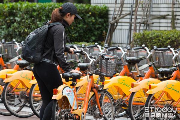 YouBike微笑單車,UBike,臺北市公共自行車租賃系統(圖/記者季相儒攝)