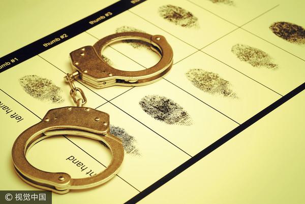 ▲指紋,手銬,犯罪嫌疑人,犯人(圖/視覺中國CFP)