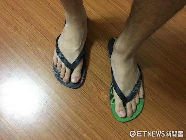 夾腳拖,拖鞋。(圖/記者李佳蓉攝)