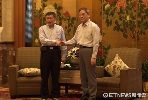 ▲▼台北市長柯文哲與國台辦主任張志軍會面。(圖/記者謝婷婷攝)
