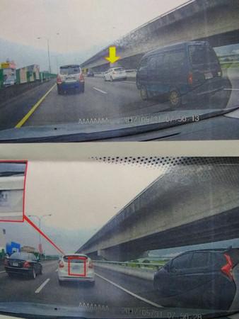 ▲國道「開放行駛路肩」被舉發 爆料取暖反被打臉!。(圖/翻攝自爆料公社)