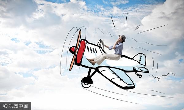 ▲女,開飛機,駕駛,迷航(圖/視覺中國CFP)