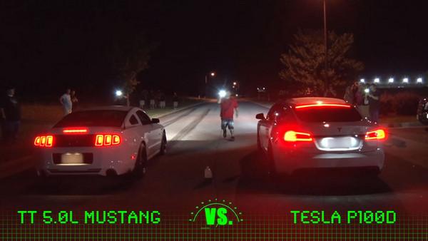 ▲改裝特斯拉加速有多狂?輕鬆讓戰神&野馬「吃灰」。(圖/翻攝自Youtube@1320 Video)