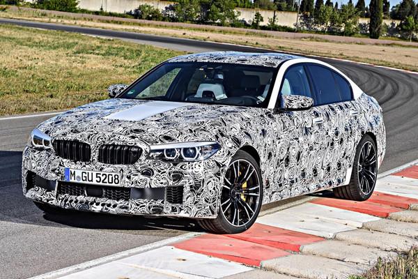 ▲新「超跑級房車」可望突破600匹?BMW M5法蘭克福揭曉。(圖/記者張慶輝攝)