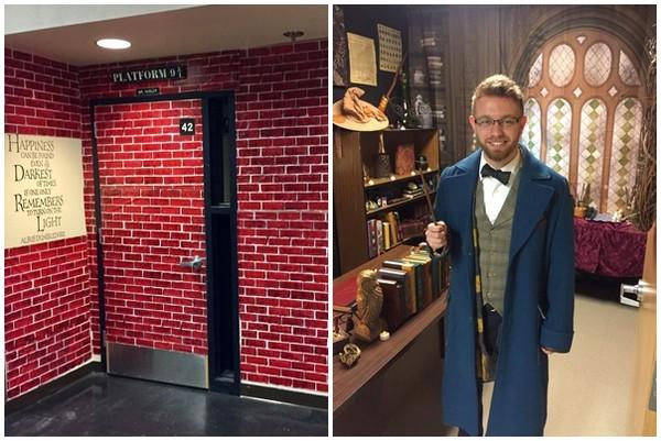 ▲進門就是魔法世界! 高中老師為學生打造霍格華茲。(圖/翻攝自Kyle Ely臉書)