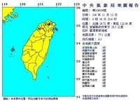 快訊/6:54宜蘭4.5地震!最大震度3級 雙北民眾有感暈3秒