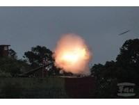 馬防部聯信操演 展現240榴砲射擊火力