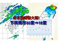 北北基連發大雨!下周雨停「30度→18度」 回溫3天又變濕涼