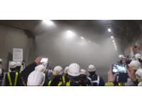 蘇花改全國設首座隧道水霧設備 偵測到火警3分鐘啟動