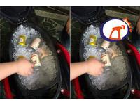 125CC行動冰箱!車廂塞冰塊...融化秒GG 網笑:放生魚片啦