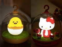 耶誕節交換療癒禮物 蛋黃哥 Kitty貓小夜燈萌翻朋友圈