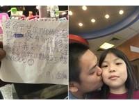 單親爸扛家累出病 9歲女兒寫信「只望你平安」…淚噴:加班值得