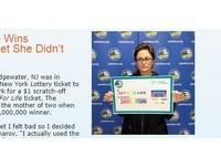 店員給錯彩券怒當書籤用 美媽媽2周後驚中1.4億元
