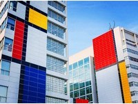 建築物上的15億畫作 抽象藝術大師蒙德里安作品荷蘭重現