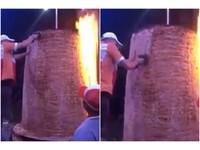 「巨無霸沙威瑪」170cm高!師傅削肉削不完…網嚇傻:神獸等級