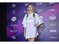 WTA台灣賽/布沙爾連身裙率性登場 穿搭首重年輕、時尚