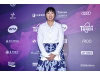 WTA台灣賽/顯瘦A字裙搭襯衫 李亞軒大呼只露小腿超喜歡