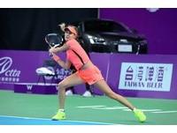 WTA台灣賽/布沙爾就是任性 球場關門還練球