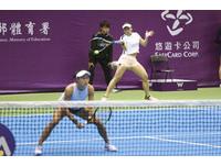 WTA台灣賽/張凱貞雙打晉8強 莊佳容:靠她罩