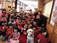 愛牠就要認識牠!導盲犬訪青海文教 與學子相見歡迎狗年