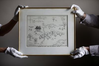 「1720萬」史上最貴插畫 《小熊維尼》森林地圖拍出天價