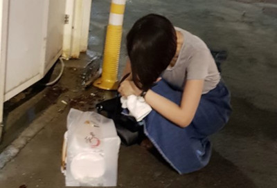 七夕街頭遇「短髮正妹」低頭哭泣!台北暖男遞衛生紙被讚爆