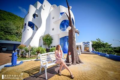享受花蓮絕美海景民宿! 希臘風建築+鞦韆大樹超好拍