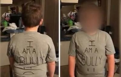 給教訓!兒子在校霸凌同學 虎媽讓他穿「我是惡霸」T恤上學