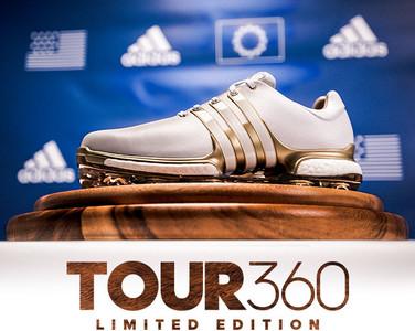 adidas Golf TOUR360萊德盃鞋款配金底 推限量紀念球桶