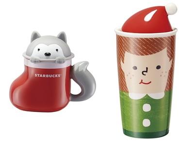 陸星巴克聖誕商品超Q!小哈士奇探出頭,泡杯熱可可溫暖你的冬天~