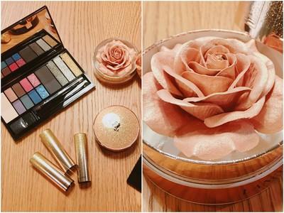 試·開箱/一整朵金色玫瑰打亮!粉質超細緻、閃亮光澤讓人美暈
