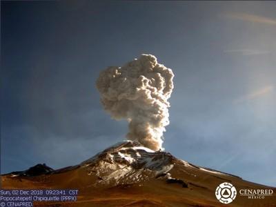 墨西哥波波卡提佩火山又爆發 火山灰噴2500米