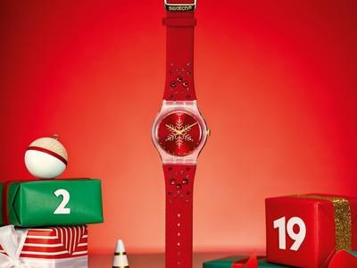 【有獎】聖誕倒數18天/戴SWATCH秒變派對女王 錶盒會「下雪」