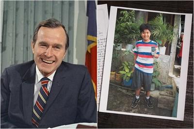 暖哭!老布希「匿名資助10年」 菲童長大才知道…溫暖通信曝光