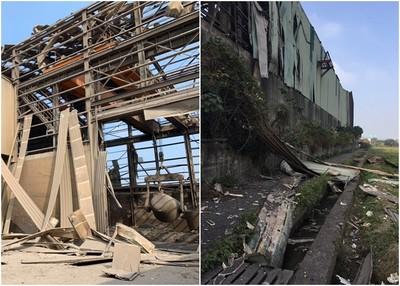 桃園鋼鐵廠轟天氣爆!住戶玻璃震碎 路過民挫翻:我以為要死了!