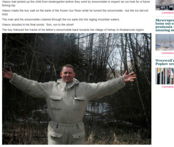 -30度下獨自走3.2km!3歲童目睹父墜河中 爬山丘越針葉林回家