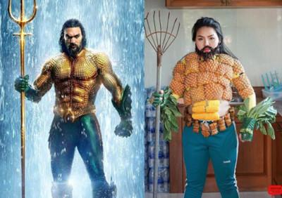 泰國網紅「低成本Cosplay」水行俠 玉米當六塊肌、紫菜變落腮鬍