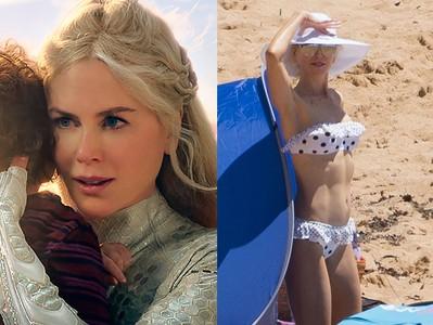 51歲妮可基嫚海邊辣曬「四塊冰塊肌」 公開身材凍齡4秘訣