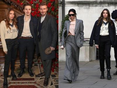 倫敦男裝周/布魯克林挺老爸貝克漢 不忘帶新女友「見公婆」