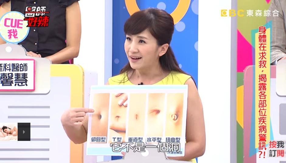 女肚臍外凸「藏13cm惡性肌瘤」!醫揭「5種抖宅形狀」代表意義。(圖/取自《醫師好辣》Youtube)